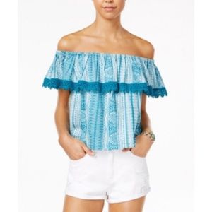 Roxy Juniors' Off-The-Shoulder Top NWT